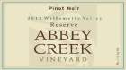 "2012 Reserve Pinot Noir ""Wine Makers Select"""