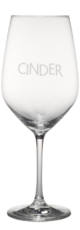 Cinder White Wine Glass with Logo
