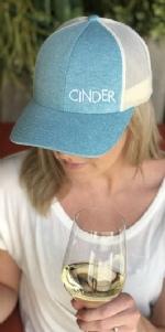 Blue Cinder Snapback Hat
