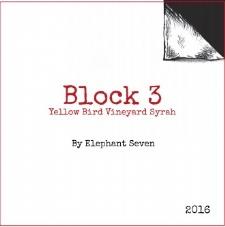 2016 Block 3 Yellow Bird Vineyard Syrah