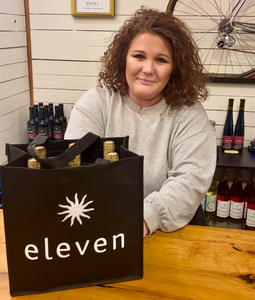 Eleven 6 bottle logo bag