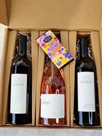 Valentine's Bundle: Sauvignon Blanc + Rosé Grand Klasse + Cabernet Sauvignon + Chocolate Bar