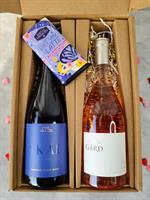 Valentine's Bundle: Skål Sparkling + Rosé Grand Klasse + Chocolate Bar