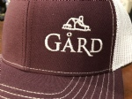 Gård Trucker Hat- Maroon/White