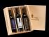 Empty 3 Bottle Wood Box