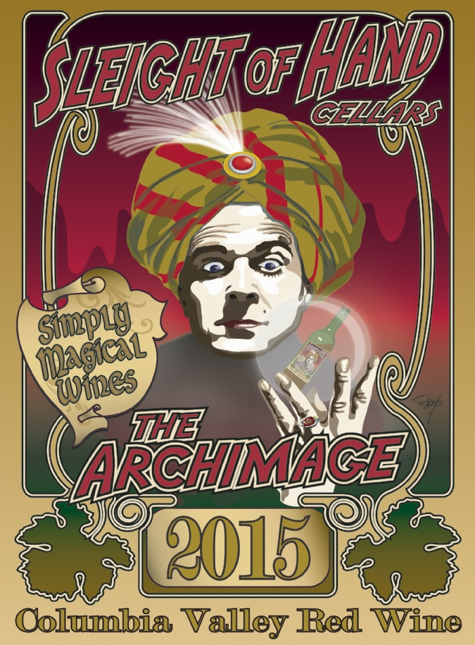 """2015 """"The Archimage"""" Red Blend Etched 9L"""