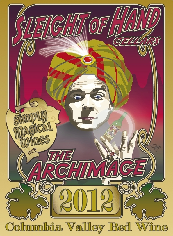 """2012 """"The Archimage"""" Red Blend Etched 6L"""