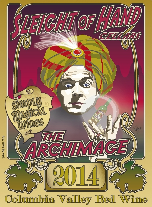 """2014 """"The Archimage"""" Red Blend Etched 6L"""