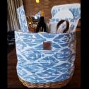 Tinte Cellars Picnic Basket - Blue and White